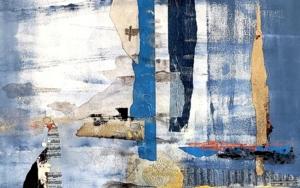 City in blue|CollagedeFlorencia Zampieri| Compra arte en Flecha.es