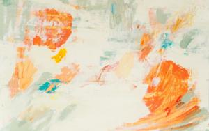 Abstracción naranja PinturadeSusana Sancho  Compra arte en Flecha.es