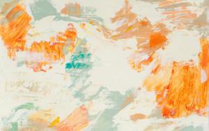 Abstracción naranja y verde|PinturadeSusana Sancho| Compra arte en Flecha.es