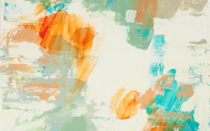 Abstracción naranja y verde III PinturadeSusana Sancho  Compra arte en Flecha.es