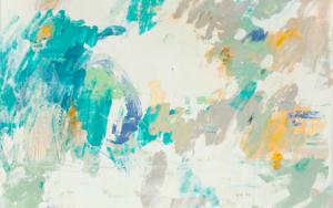 Abstracción en verde|PinturadeSusana Sancho| Compra arte en Flecha.es