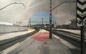 Santa Eugenia RENFE (Estudio de color) PinturadeAdriana Berges  Compra arte en Flecha.es
