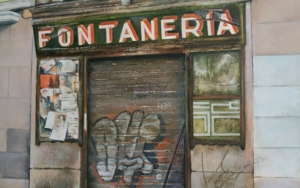 La vieja fontanería - Madrid|PinturadeTOMAS CASTAÑO| Compra arte en Flecha.es