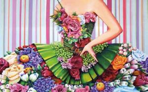 Menina Primavera|PinturadeMaite Rodriguez| Compra arte en Flecha.es