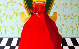 Reina Matilda de Oros|PinturadeÁngela Fernández Häring| Compra arte en Flecha.es