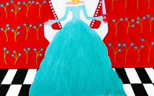 Reina Matilda de Espadas|PinturadeÁngela Fernández Häring| Compra arte en Flecha.es