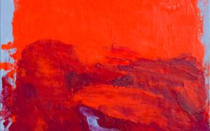 Naranja y azul PinturadeIgnacio Mateos  Compra arte en Flecha.es