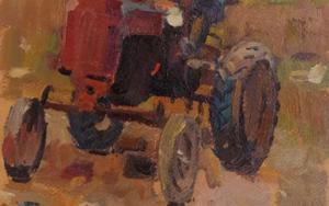 On the tractor PinturadeLes Vladimir Stepanovich  Compra arte en Flecha.es