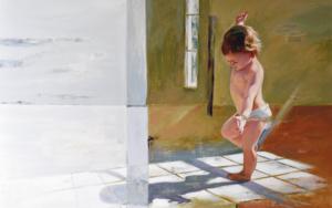 Jugando con su sombra|PinturadeCelestino Mesa| Compra arte en Flecha.es