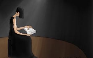 Mujer leyendo|DigitaldeLola Barcia Albacar| Compra arte en Flecha.es