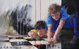 Las canicas de Fernando|PinturadeCelestino Mesa| Compra arte en Flecha.es
