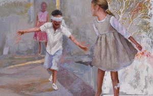 Jugando a la gallina ciega|CollagedeCelestino Mesa| Compra arte en Flecha.es
