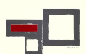 GEOMETRIC  RED 17-02|Collagedealberto latini| Compra arte en Flecha.es