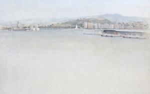 Puerto de Málaga|PinturadeJosé Luis Romero| Compra arte en Flecha.es