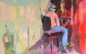 Café en Arles|PinturadeLuz Parra| Compra arte en Flecha.es