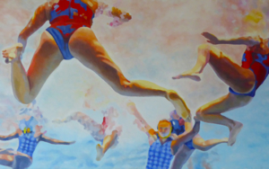 WATERPOLO FEMINAS|PinturadeJose Belloso| Compra arte en Flecha.es