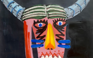 Dos cabezas de toro 02 DibujodeCARLOS QUIRALTE  Compra arte en Flecha.es