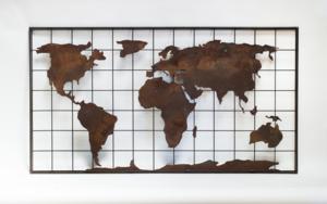 MAPA MUNDI XVI|Escultura de pareddeMaría Hervás| Compra arte en Flecha.es