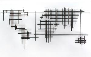 MAPA MUNDI XXIV|Escultura de pareddeMaría Hervás| Compra arte en Flecha.es