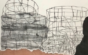 """Nasas de Mogán""|Obra gráficadeLeticia González Serrano| Compra arte en Flecha.es"