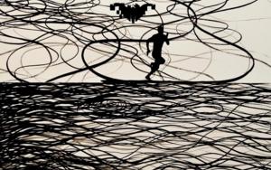 Corredor nocturno|CollagedeJavier Pulido| Compra arte en Flecha.es
