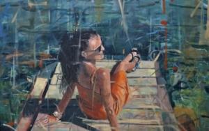Tomando el sol|PinturadeAmaya Fernández Fariza| Compra arte en Flecha.es