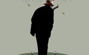 """Cazador de pluma""|CollagedeGabriel Aranguren| Compra arte en Flecha.es"