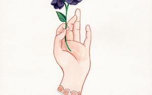 Mano con flor I DibujodeHelena Perez Garcia  Compra arte en Flecha.es