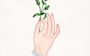 Mano con flor IV|DibujodeHelena Perez Garcia| Compra arte en Flecha.es