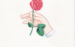 Mano con flor V DibujodeHelena Perez Garcia  Compra arte en Flecha.es