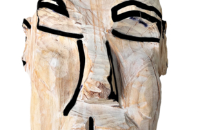 Cabeza blanca|EsculturadeOlga Cáceres| Compra arte en Flecha.es