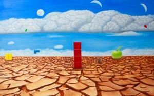 Le désert de la fragmentation PinturadeEzequiel Martinez Llaser  Compra arte en Flecha.es