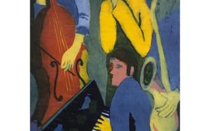 Jazz cuarteto II|Obra gráficadeJenifer Carey| Compra arte en Flecha.es