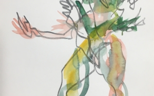 Green Man|DibujodeJaelius Aguirre| Compra arte en Flecha.es