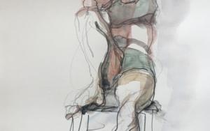 Codo en Rodilla DibujodeJaelius Aguirre  Compra arte en Flecha.es