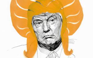 Trump and the angry inch|DibujodeIvory| Compra arte en Flecha.es