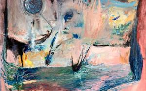 Blue Balloon|PinturadeLika Shkhvatsabaia| Compra arte en Flecha.es