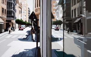 """REFLEJOS XXVII. MURCIA"".|PinturadeROSANA SITCHA| Compra arte en Flecha.es"