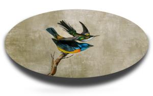 Óvalo con dos pájaros|Escultura de pareddeEnrique González| Compra arte en Flecha.es