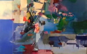 Figura en jardín|CollagedeAna Alcaraz| Compra arte en Flecha.es