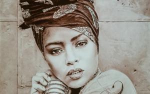 African woman|DibujodeLali Casillas Salcedo| Compra arte en Flecha.es