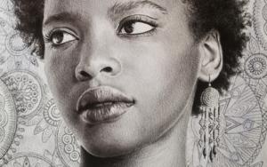 Afro|DibujodeLali Casillas Salcedo| Compra arte en Flecha.es