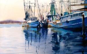 Barcos de pesca|PinturadeLuis Imedio| Compra arte en Flecha.es