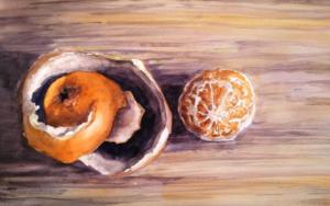 Naranja pelada|PinturadeLuis Imedio| Compra arte en Flecha.es