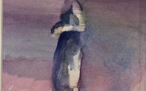 Figura en pantano|PinturadeAna Alcaraz| Compra arte en Flecha.es