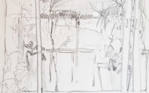 "Boceto para ""Ventanal"" I|DibujodeCarolina Veramendi B| Compra arte en Flecha.es"