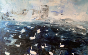 Swan Lake|PinturadeLika Shkhvatsabaia| Compra arte en Flecha.es
