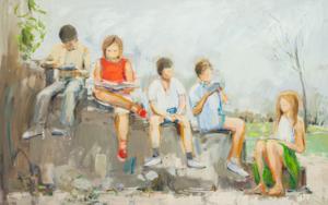 Reading PinturadeSusana Sancho  Compra arte en Flecha.es