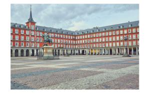 La plaza Mayor - Mas sola que nunca debido a la pandemia de la COVID-19|DigitaldeIván Abanades Medina| Compra arte en Flecha.es
