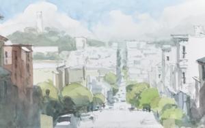 Calle de San Fracisco PinturadeIñigo Lizarraga  Compra arte en Flecha.es